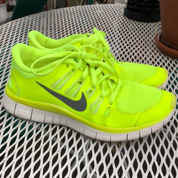 Nike Shoes   Neon Yellow Nike Free 5